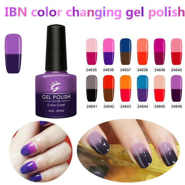 Polish Soak Off China Own Brand Thermal Color Changing Label Uv Gel Nail