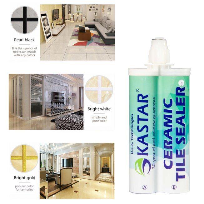 hot item porcelain crystal black and white epoxy resin adhesive glue for kitchen toilet vinyl floor tiles