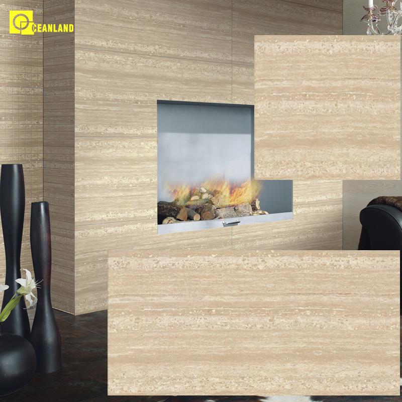 china polished travertine ceramic floor
