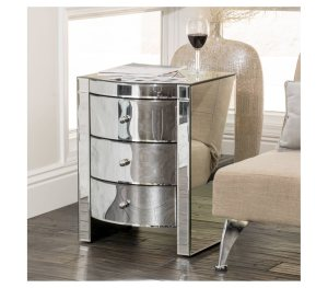 Hot Item Luxury Italian Bedroom Furniture Mirror Nightstands