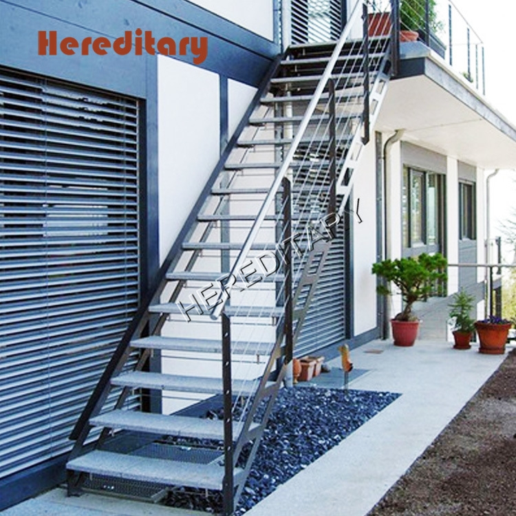 China Outdoor Design Staircase Stainless Steel Glass Railing   Outdoor Steel Staircase Design   Wrought Iron   Light   Stainless Steel   Industrial   Wood