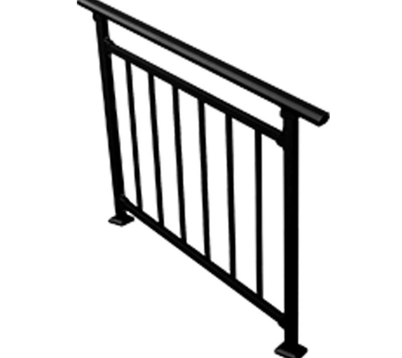China Customized Aluminum Decorative Handrails For Stairs China | Decorative Handrails For Stairs | Brushed Nickel | Popular | Corner Interior Stair | Exterior Irregular Stair | Iron Staircase