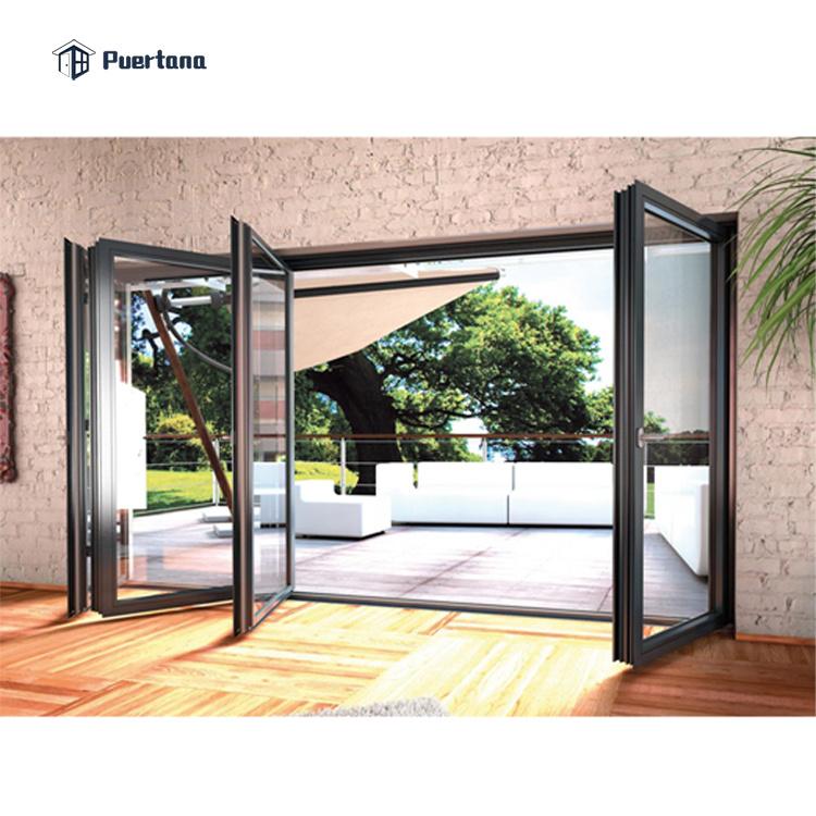 hot item aluminum bi folding glass doors aluminium sliding folding patio doors