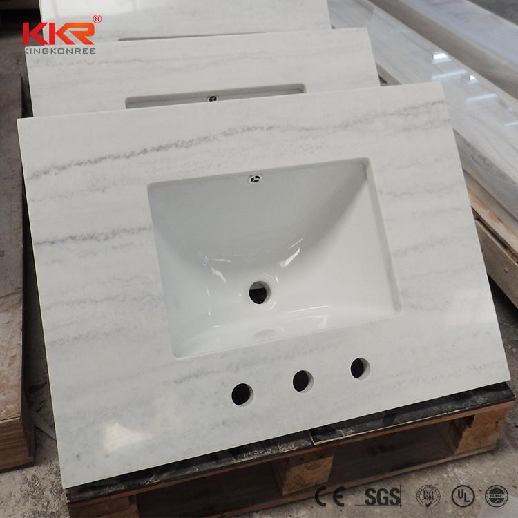 hot item kingkonree custom made cultured marble vanity tops