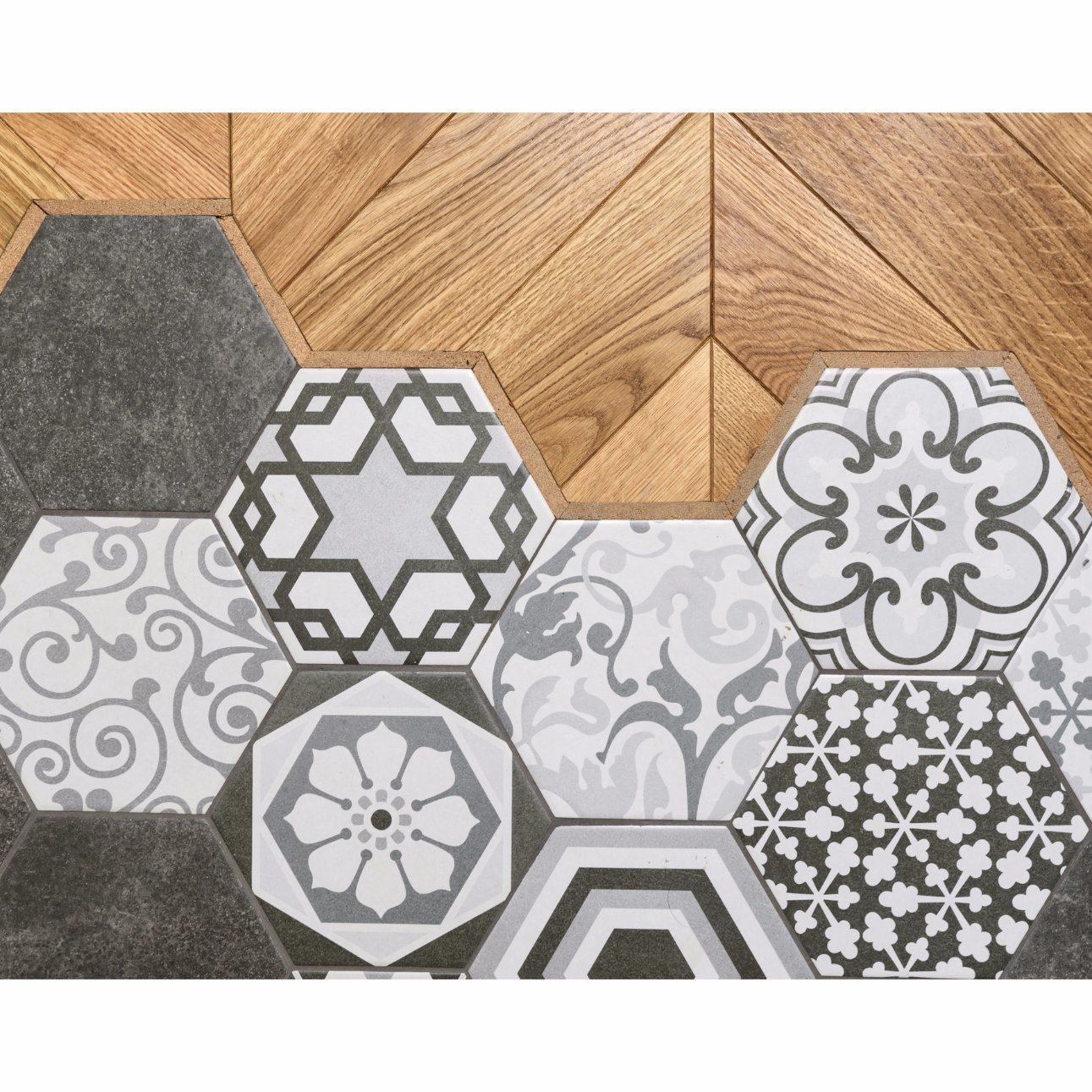 china hexagon floor tile cement tiles