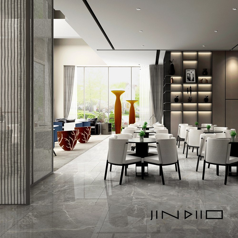 hot item 80 80cm grey marble porcelain tiles handpainted installing granite tiles floor in china