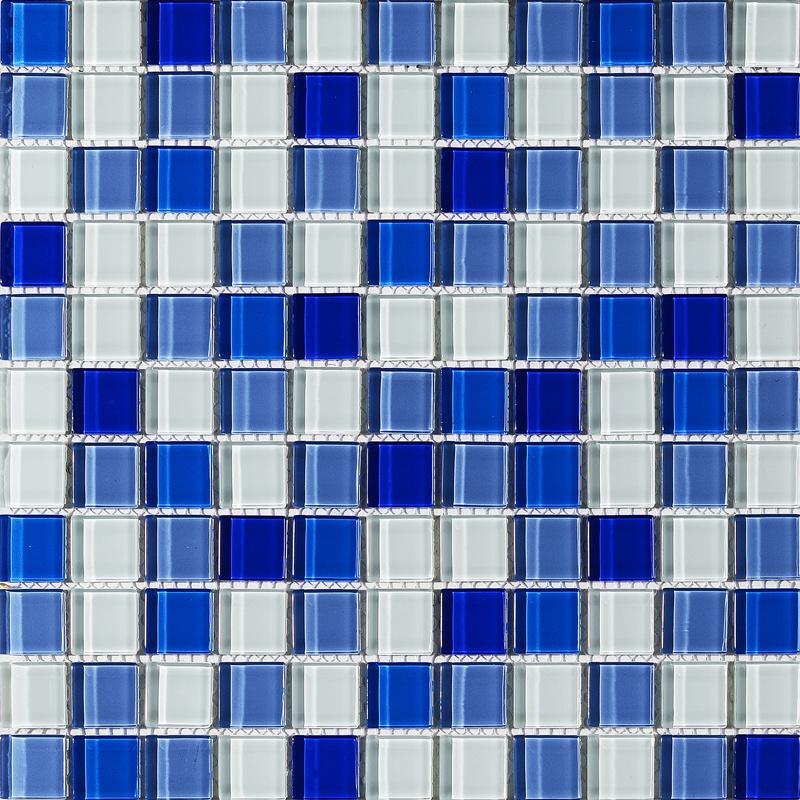 hot item blue color swimming pool bathroom shower floor tile wholesale mosaic glass tile