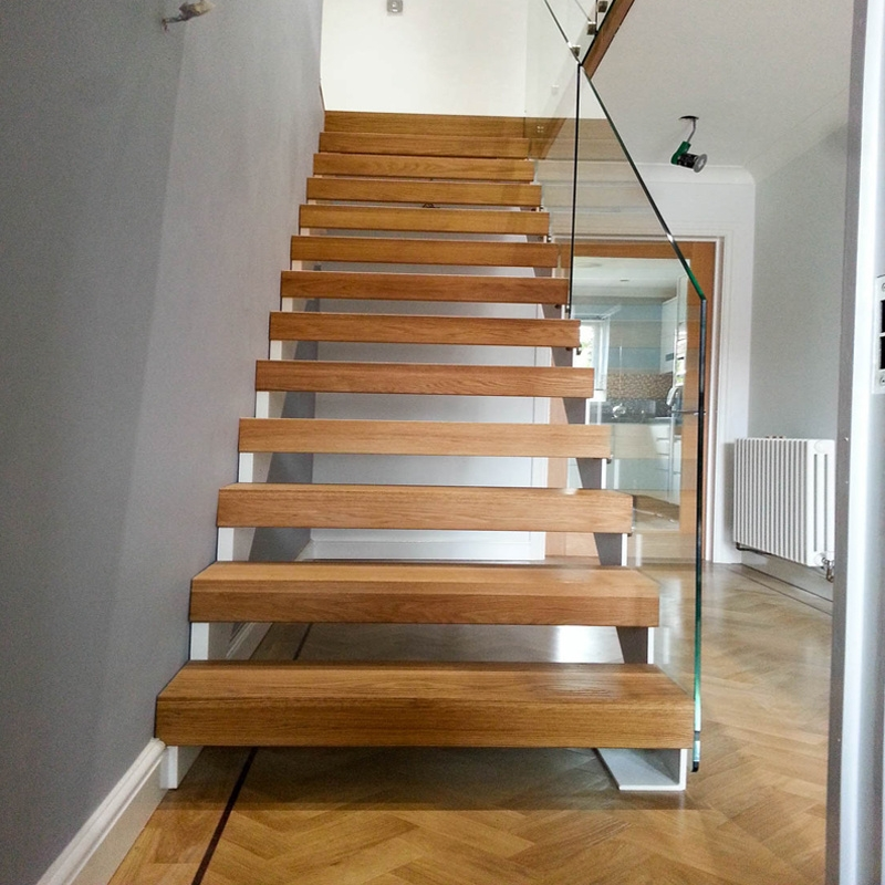 China Customized Stair Railing Kits Floating Stairs Wooden | Types Of Wooden Stairs | Rustic Wooden | Storage | Separated | Staircase | Vertical Wood