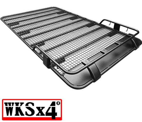 hot item roof rack full basket for toyota land cruiser 80 series gutter mount 2200