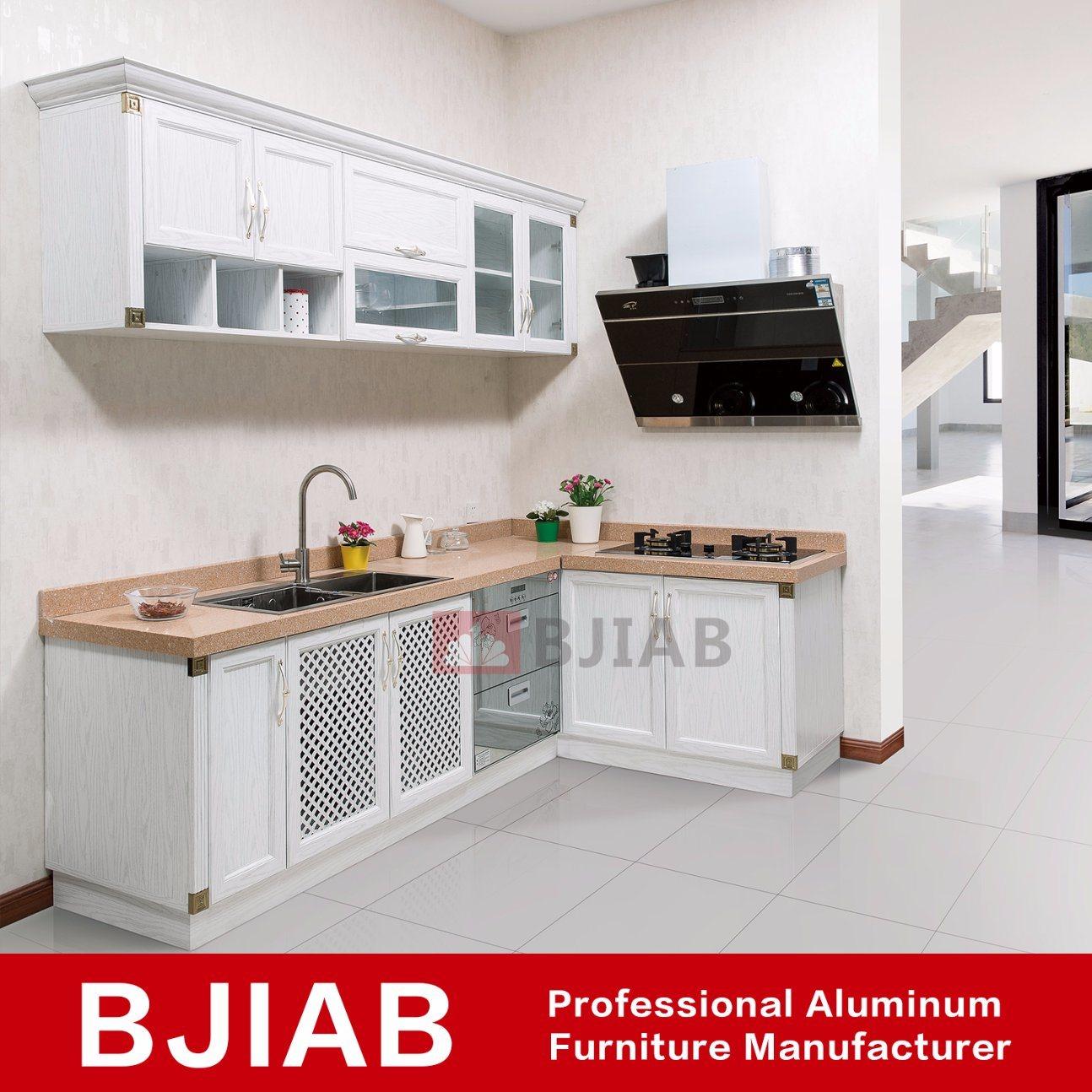 armoires de cuisine en aluminium
