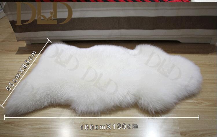 chine tapis de fourrure blanche