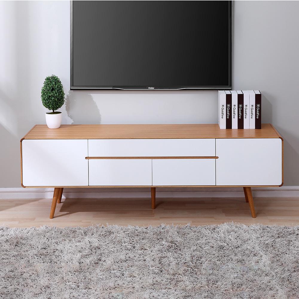 chine grand meuble tv en bois blanc