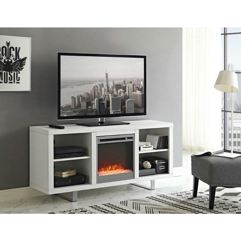 cheminee electronique moderne meuble tv