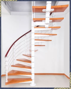 China Cheap Price Spiral Stairs With Solid Wood Steps And Pvc | Spiral Staircase Wooden Steps | Tiny House | Wrought Iron | Rustic | Creative | 2 Story