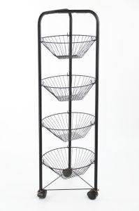 4 tiers kitchen vegetable storage wire rack