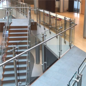 China Stainless Steel Double Plate Glass Balustrade For Stair   Stainless Steel Glass Staircase   House   Ultra Modern   Curved   Mirror   Design