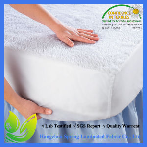 White Diamond King Size Polyester Bed Bug Quilt Waterproof Mattress Protector