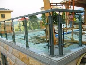 China Modern Design Outdoor Stair Balcony 304 Stainless Steel | Stainless Steel Outdoor Stair Railings | Horizontal | Balcony 4X10 | Metal | Black | Hand