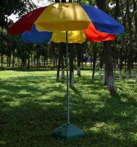 8 ft rainbow multi color patio beach umbrella waterfront umbrella