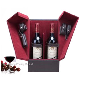 China Luxury Wooden Liquor Gift Box For Red Wine Packaging