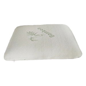 traditional memory foam bamboo pillow orthopedic support prevents back and neck pain with luxury cover