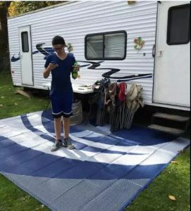 pp 9x12 reversible outdoor mat rv trailer camping patio rugs