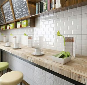 12x24 300x600mm white black mould ceramic wall subway tile for kitchen dining tile