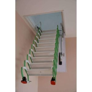 China Indoor Duplex Staircase Folding Attic Ladders Steel   Folding Attic Stairs With Handrail   Attic Remodel   Attic Renovation   Ceiling   Stira   Rainbow F2260