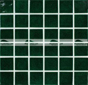 china 48x48mm dark green carckle glazed