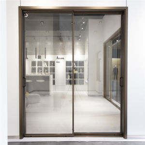 china interior silm fram double glass