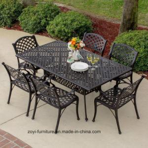 china cast aluminium patio dining table