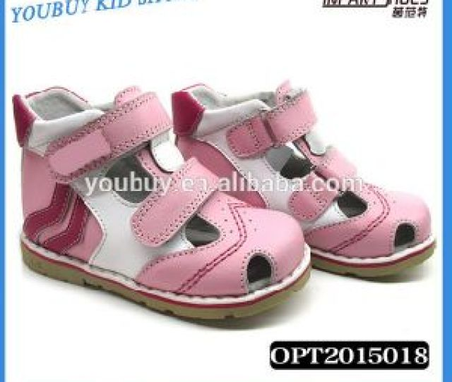 Fashionable Leather Children Orthopedic Shoes Baby Girl Sandals For