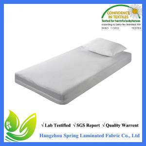 Zippered Vinyl Mattress Cover Protector Queen Size Protects Against Fluids Dust Mites Bacteria Bed Bugs