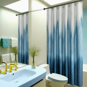 wholesale nordic style printed waterproof shower curtain