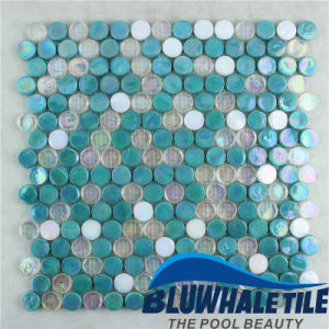 china penny round glass mosaic tile for