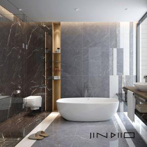 modern bathroom shower floor calacatta 24x24 white porcelain tile