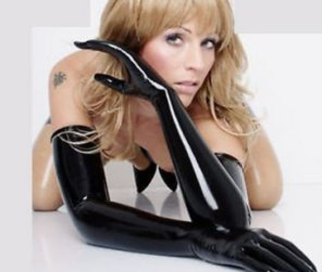 Pure Latex D Mould Fetish Opera Long Gloves Rubber Moulded Seamless Latex Gloves Plus