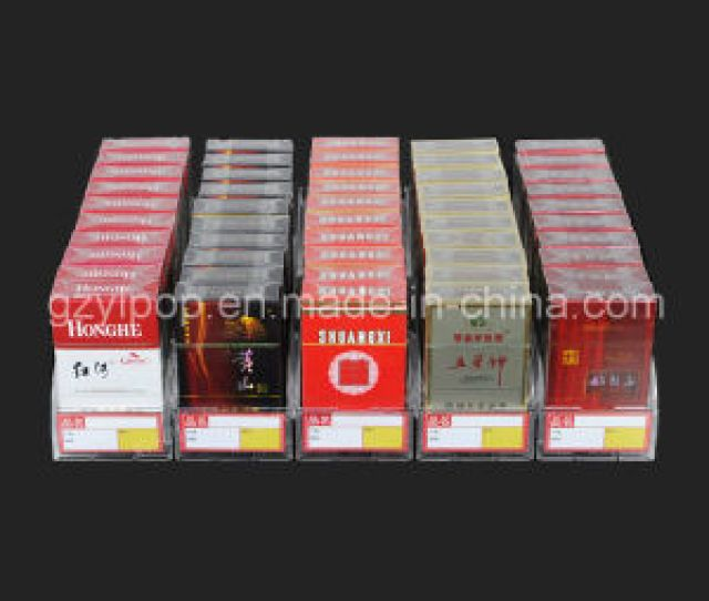 Acrylic Cigarette Display Stand Led Cigarette Display Shelves With Plastic Pusher