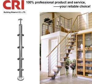 China Good Price 304 Stainless Steel Staircase Railing China   Stainless Steel Staircase Railing Price   Interior   Outdoor   Glass   Wooden Railing   Handrail