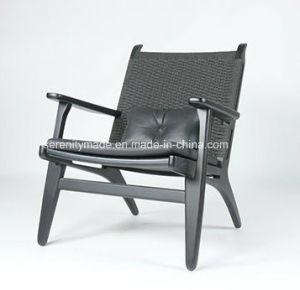 un style moderne en bois massif rembourres en cuir gris fauteuil inclinable chaise de salon