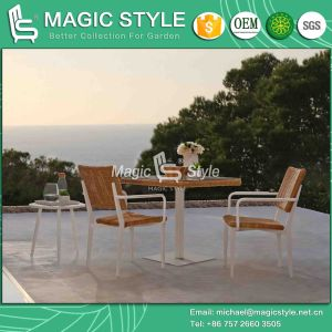 ensemble de salle manger en osier patio extrieur chaise de salle manger salle manger en aluminium set table manger en rotin de jardin carr en with table de