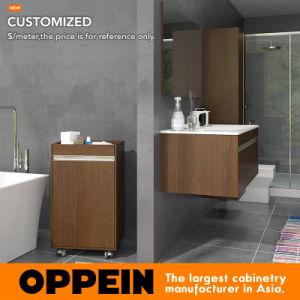 un design contemporain salle de bains en bois flottant a montage mural vanite