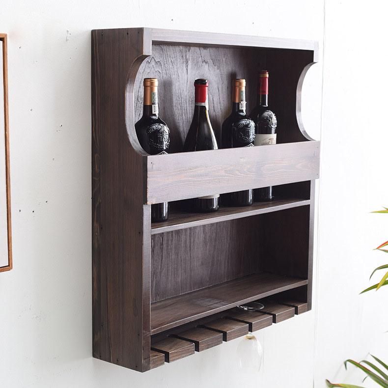 solid wood wall hanging wine rack wine