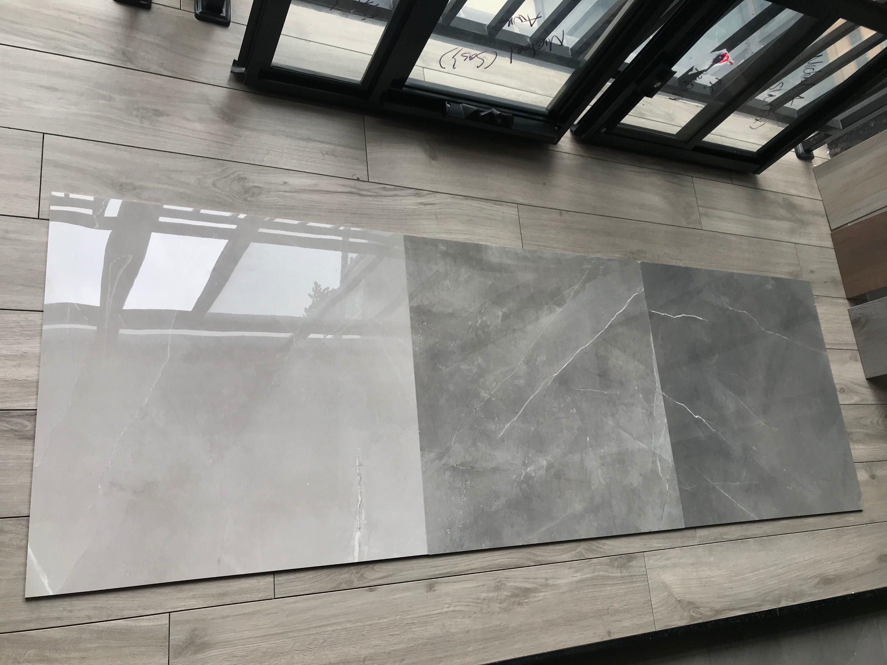 ivory glossy matt marble look porcelain