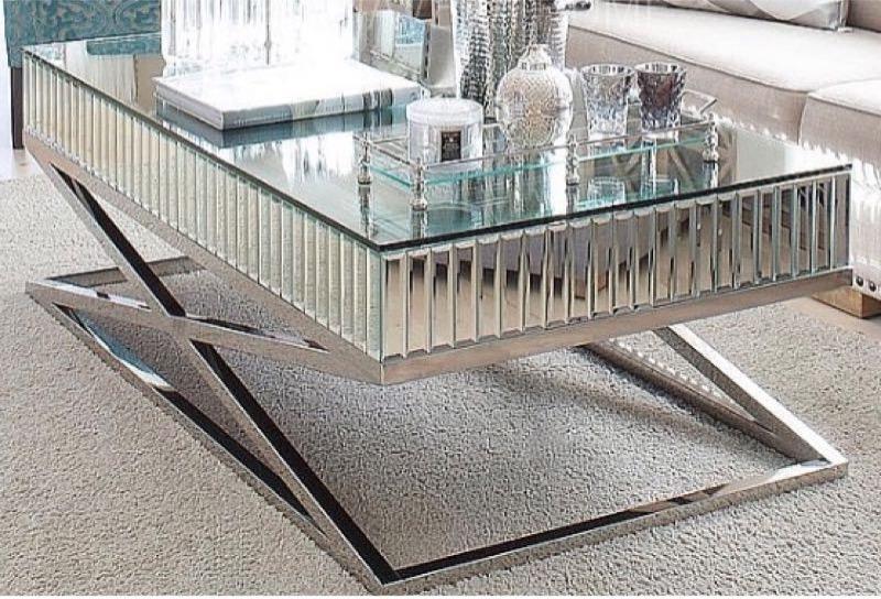 arrive x shape mirror coffee table