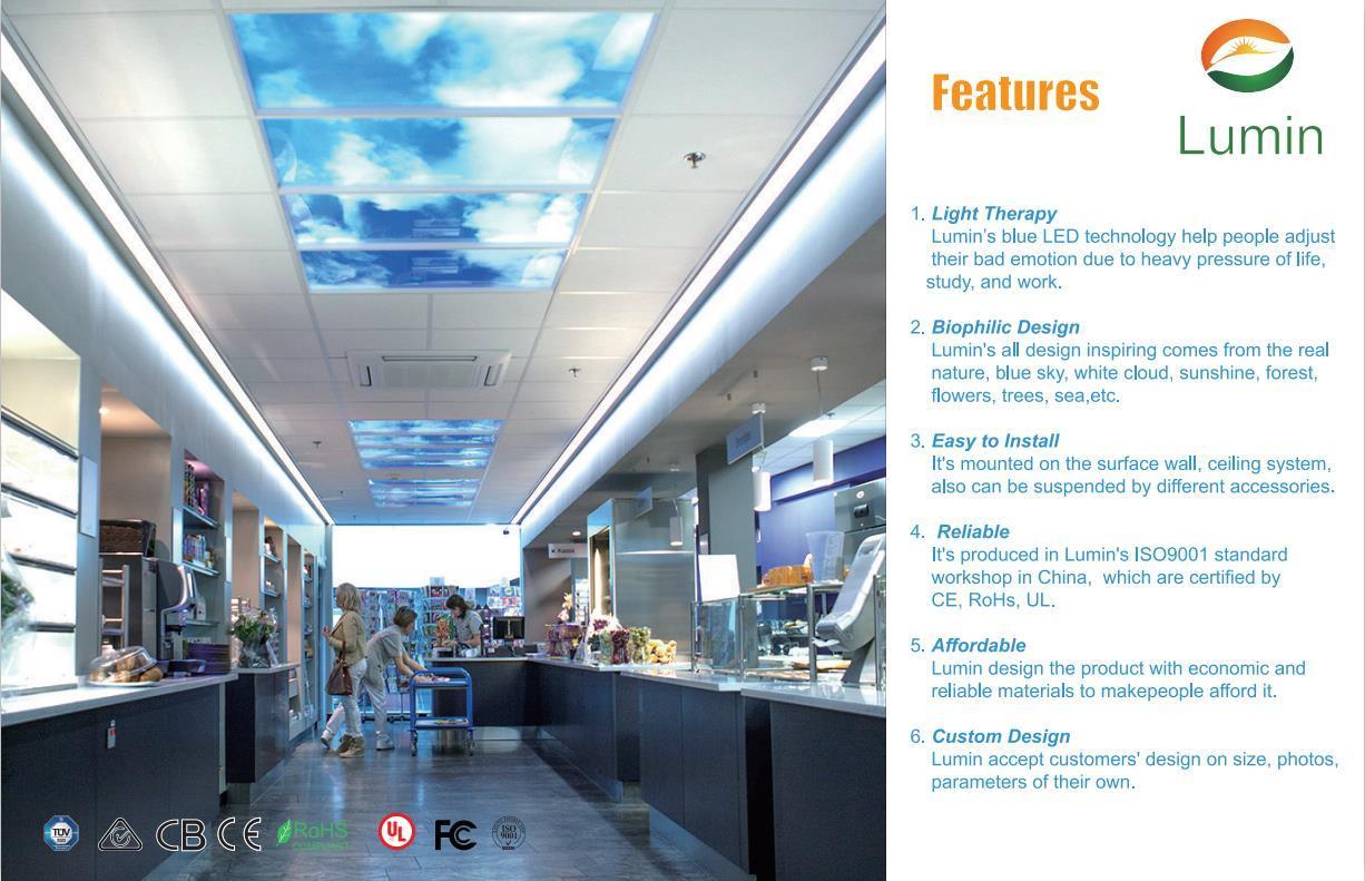 led ceiling panels for modern interior