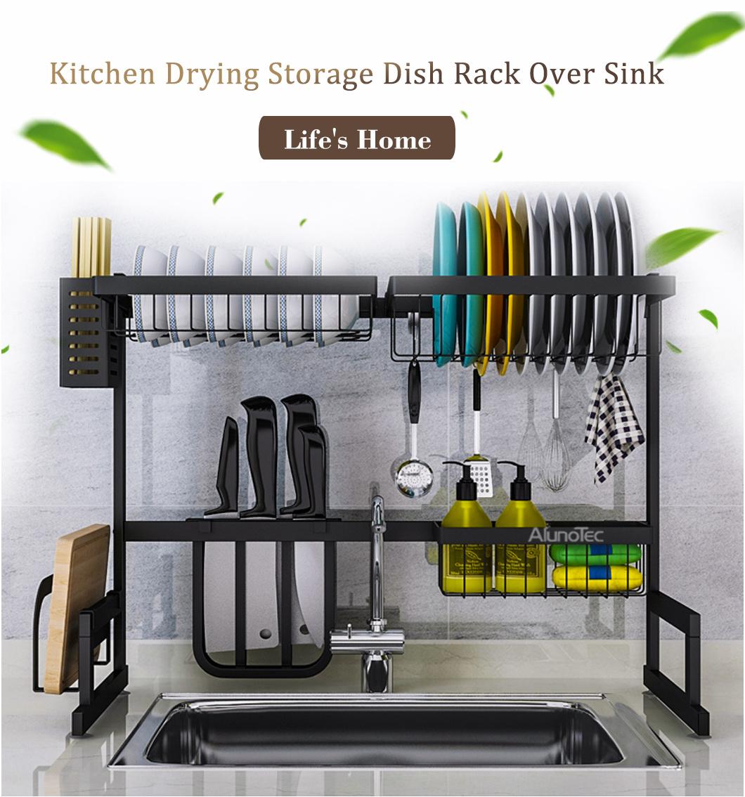 65cm black kitchen stand drying holder
