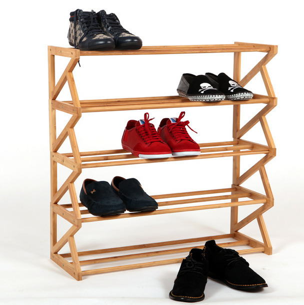 small bamboo wooden shoe rack