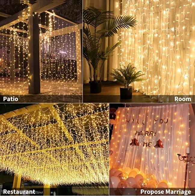 300 led fairy lights curtains lights