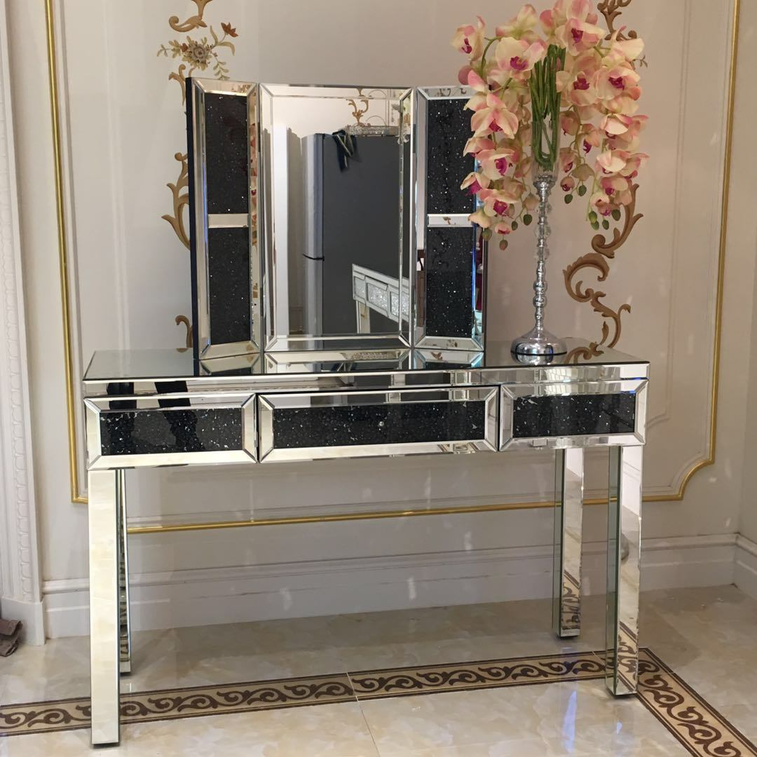 china mirrored dressing table mirrored